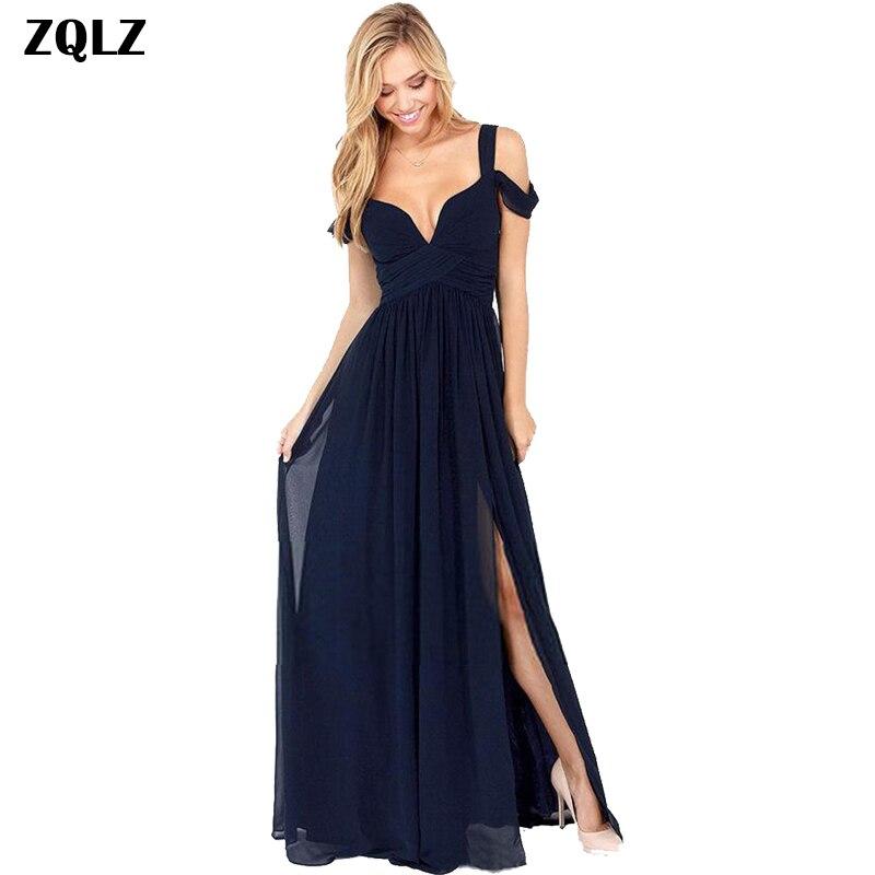 Zqlz Summer Vintage Bohemian Maxi Dress Chiffon Vestidos Women V Neck Short Sleeve Backless Sexy Club Evening Party Dresses