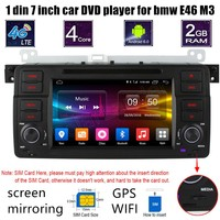 For BMW E46 M3 4G Android 6 0 Car DVD Radio Player GPS WIFI Steering Wheel
