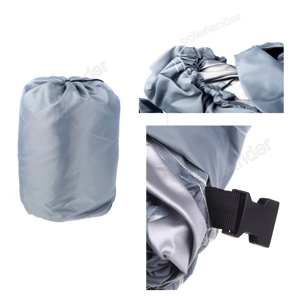 GREY HOT SELL Waterproof 17-19ft Beam  210D Boat Cover Speedboat Trailerable Cover Protected