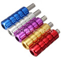 5pcs  New Ribbed Tattoo Aluminum Alloy Machine Grips Tubes Stainless Steel Tips Tools Kit Free Shipping