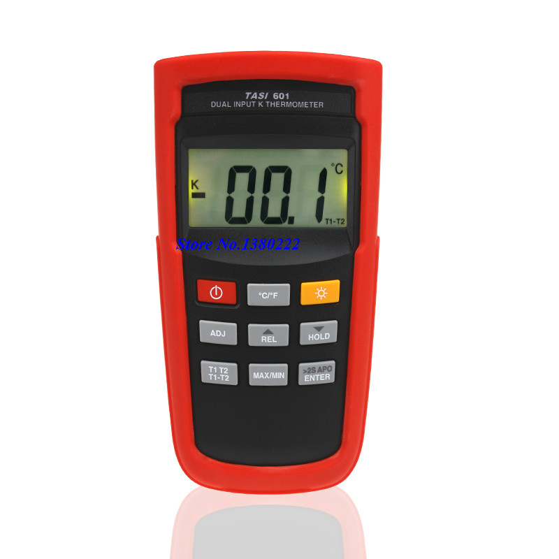 Highly accurate dual input thermometer -200 to 1372 Degrees TASI-601 K-type thermocouple digital thermometer contact thermometer
