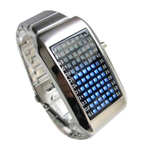 hot wristwatch sales 72 Led Light Fashion Design New Watch  blue cool style freeship