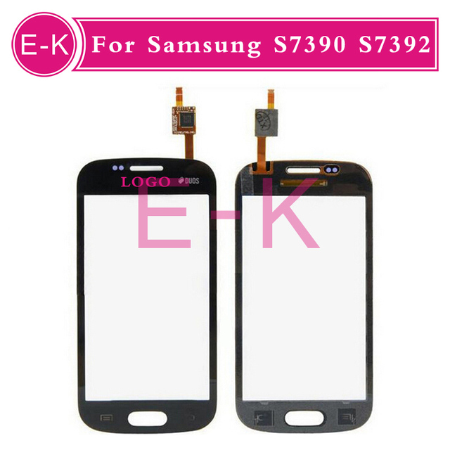 10pcs/lot 100% new high quality Touch Screen For Samsung Galaxy Trend Lite S7390 S7392 With Digitizer Black&White Free Shipping