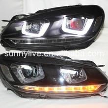Golf 6 светодиодный светильник голова Дьявола Глаз с объективом проектора 2009-2013 YZV2 Тип
