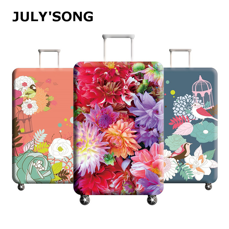 JULY'S SONG Elastic Thickest Travel Luggage Cover Suitcase Protective Case For Trunk Case Apply To 18''-32'' Suitcase Cover