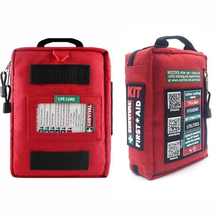Mini trousse de premiers soins étiquetée Kits essentiels bande réfléchissante de sac Molle imperméable pour l'urgence à la maison voitures survie randonnée