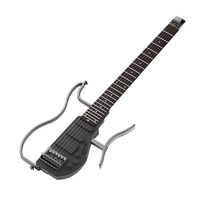 ALP AD 80 Foldab Headless Travel Aluminum alloy body Electric Guitar Built in Headphone Amplifier & Lithium Battery with Gig Bag
