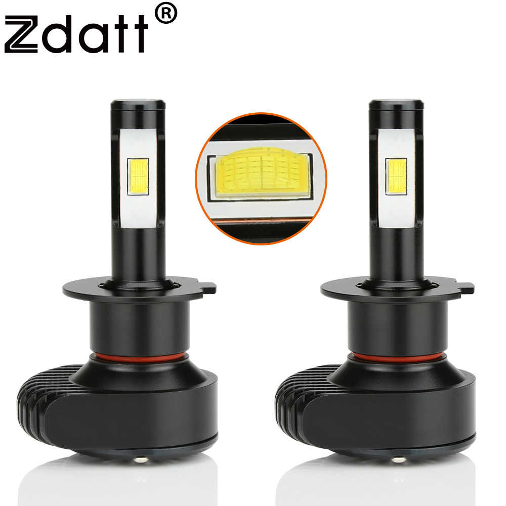 Zdatt H4 Led H7 LED bulbs for Cars Canbus Mini Headlight H11 H1 H8 H9 9005 HB3 9006 CSP 80W 6000K 10000Lm Car Light Auto Lamp