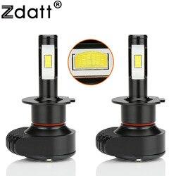 Zdatt H4 Led H7 żarówki LED do samochodów Canbus mała latarka czołowa H11 H1 H8 H9 9005 HB3 9006 CSP 80W 6000K 10000Lm światła samochodowe lampa samochodowa