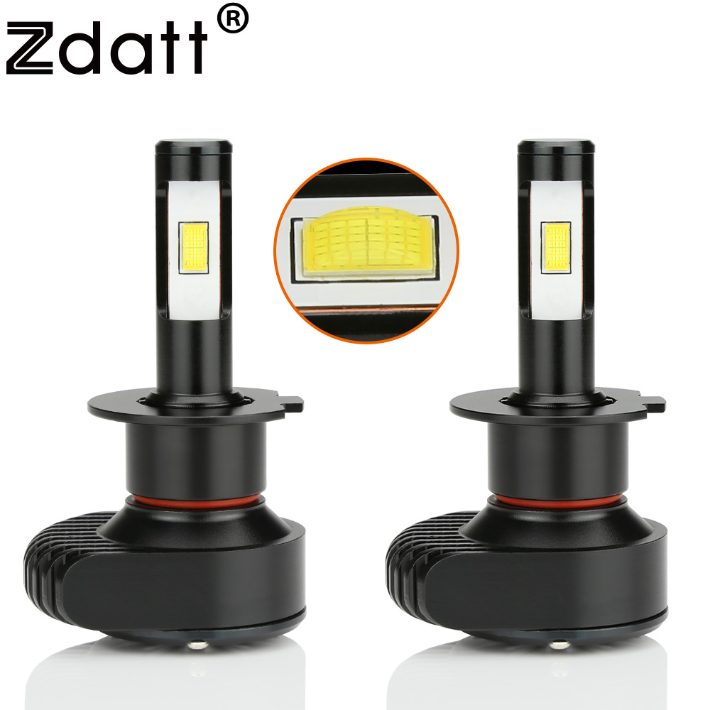 zdatt upgrade mini led h4 h7 canbus headlight bulb h8 h9 h11 h1 9005 hb3 9006 csp 80w 10000lm car light 12v auto lamp auto 6000k [ 1000 x 1000 Pixel ]