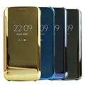Do caso da aleta inteligente para samsung galaxy s5 luxo espelho pu tampa do telefone móvel de couro do caso da aleta inteligente para samsung s5 Coque