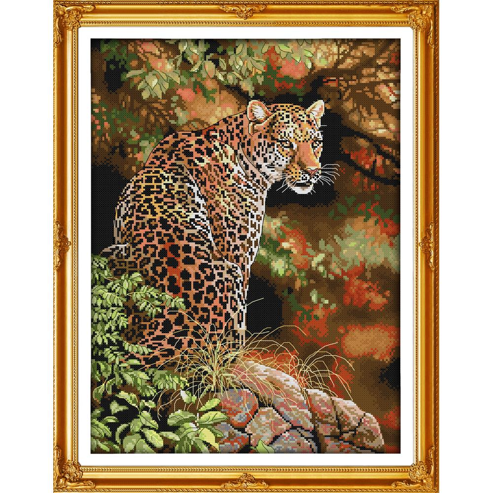 Everlasting love Christmas Cheetah (2) Chinese cross stitch kits Ecological cotton stamped 11 CT 14 CT New store sales promotion