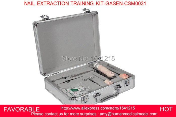 Fournitures de soins modèles de formation produits médicaux de soins infirmiers outils de formation de compétences médicales KIT-GASEN-CSM0031 de formation d'extraction des ongles