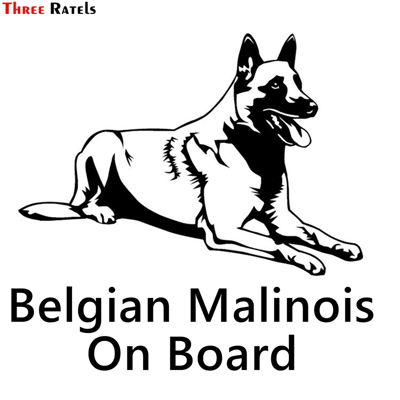 Three Ratels TZ-1209 15*16.1cm 1-4 Pieces Belgian Shepherd Malinois Car Sticker Funny Car Stickers Decals