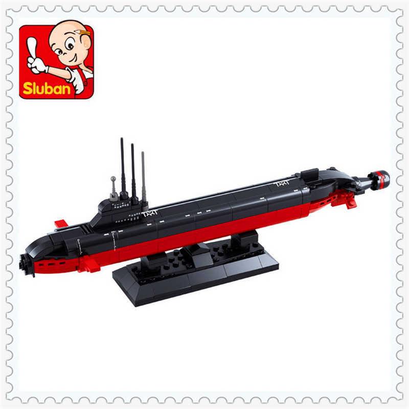193Pcs Army Navy Sottomarino Nucleare Modello di Nave Building Block Giocattoli SLUBAN 0391 FAI DA TE Educational Regalo Per I Bambini Compatibili