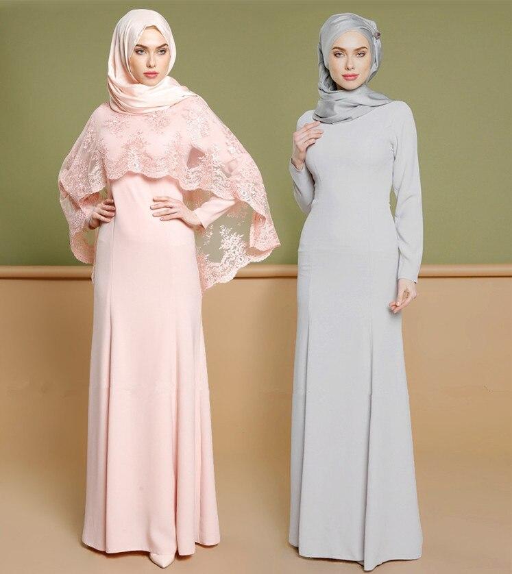 Dubaï Abaya robes élégantes femmes longue Robe dentelle vêtements musulmans fête robes de luxe mode caftan turquie islamique saoudien arabe