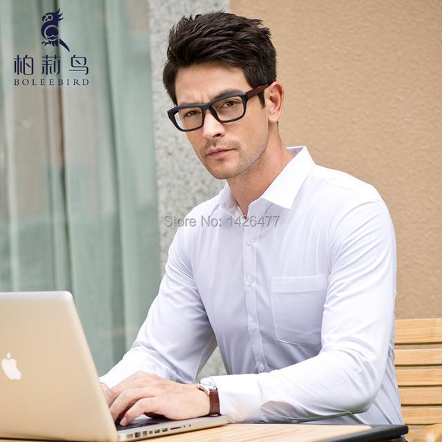 2016 Мужчины белый с длинными рукавами рубашки хлопка бизнес-офис платье camisas masculina тонкий коммерческие формальные социальные clothing shirts