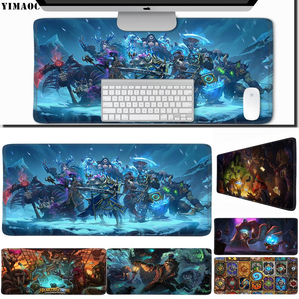 YIMAOC 30*60 Cm Large Mouse Pad Gamer Mousepad Rubber Gaming Desk Mat With Locking Edge Hearthstone