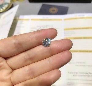 Image 4 - Round Moissanite white D VVS 1.00ct 6.5mm barestone custom Moissanite ring Pendants for naked diamond