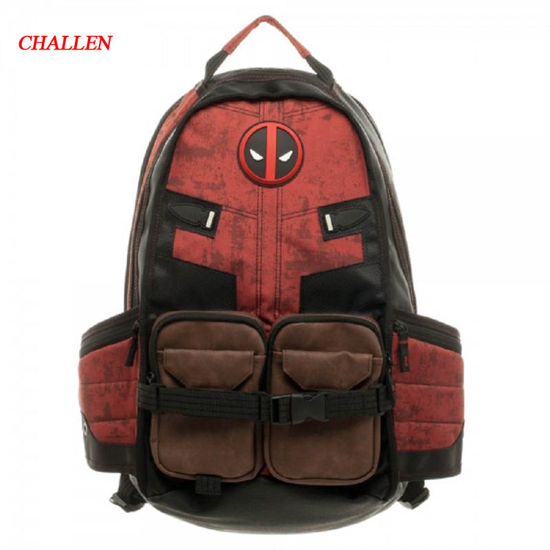 2018 Real School Manwei Deadpool Movie And Animation Around The Official Original Dead Bag X For Police Shoulder Bag Backpack