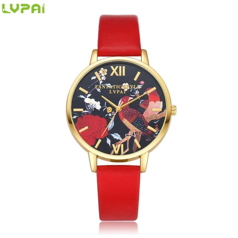 LAPAI 2016 Hot sale Watches Pink dial edge Women Quartz Wristwatch Clock Ladies Dress Gift Watches Drop shipping Oct 18