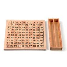 Bebé de Juguete Montessori 100 Cien Bordo 20 cm * 20 cm de La Primera Infancia Educación Formación Preescolar Juguetes Para Niños Brinquedos juguetes