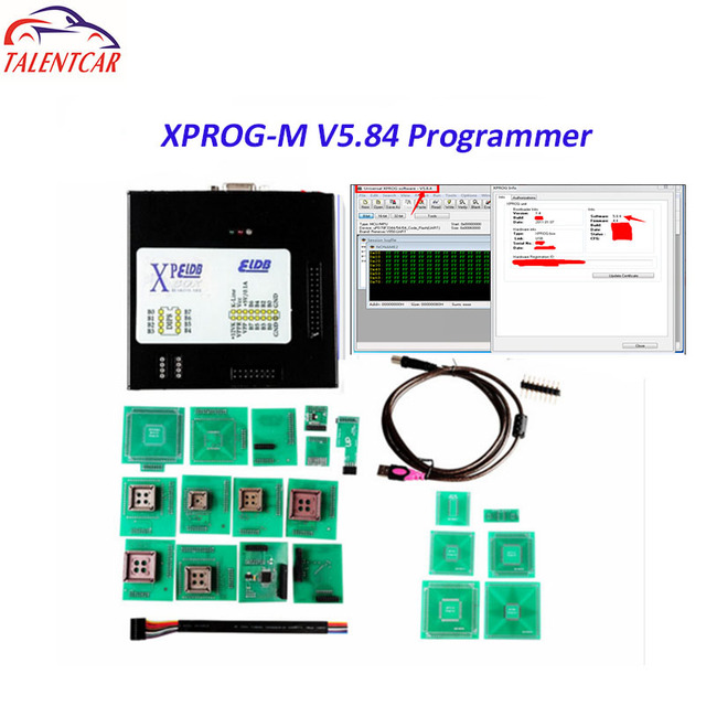Best Offers New Version Xprog 5.84 XPROG-M Box V5.84 X-PROG 5.84 ECU Chip Tuning Tool With USB Dongle Metal Box XPROG Auto ECU Programmer