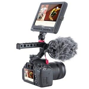 Image 4 - Alüminyum DSLR En Kolu Kavrama w 3 Soğuk Ayakkabı Mounts için 1/4 3/8 Monitör Mikrofon Video Işığı sony A6400 6300 Nikon Canon