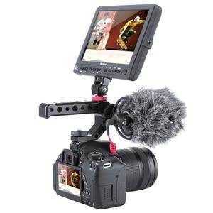 Image 4 - อลูมิเนียม DSLR Top Handle Grip 3 เย็นรองเท้า Mounts 1/4 3/8 สำหรับ Monitor ไมโครโฟนวิดีโอแสง sony A6400 6300 Nikon Canon
