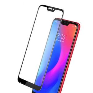 Image 3 - 2 piezas Protector de pantalla LCD Xiaomi Mi 8 Lite pegamento completo de vidrio Xiomi Mi 8 Lite 2.5D cubierta completa de vidrio templado para Xiaomi Mi 8X Film ^