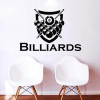 Wall Decal Billiards Sport Vinyl Sticker Decals Home Gym Shop Window Decor