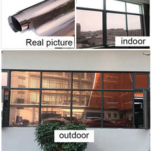 One-way Perspective Solar Mirror Film Glass Window Stickers Anti-UV Tint Office Building Decorative 300cm