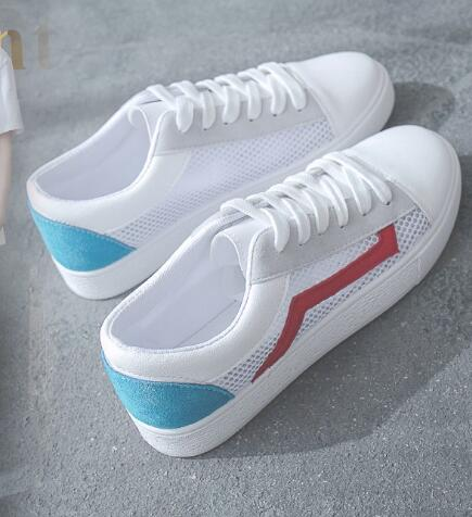 Red pequeños zapatos blancos femeninos transpirable estudiantes coreanos JBB1-JBB6