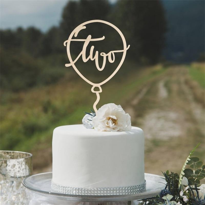 Peachy Balloon Cake Topper Two Birthday Cake Topper 2Nd Birthday Cake Funny Birthday Cards Online Elaedamsfinfo