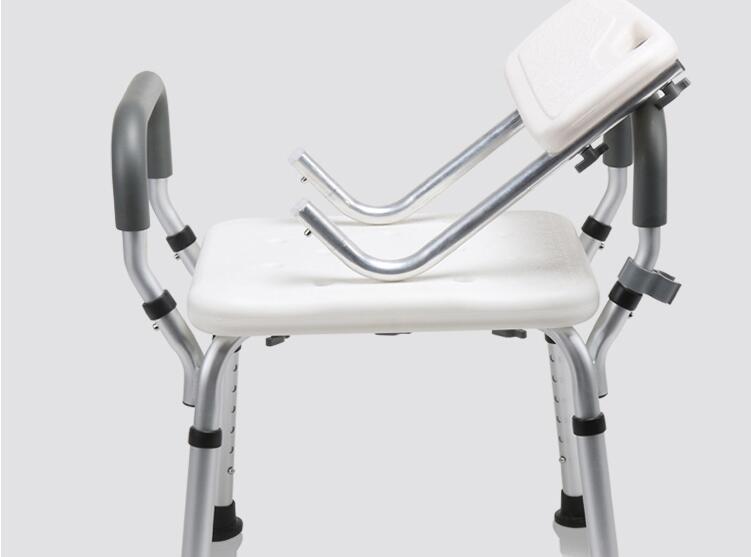 Regolabile in altezza da bagno anziani sedia in lega di alluminio
