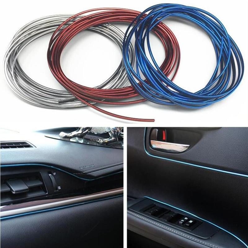 5m Car Grille Interior Exterior Mouldings Trim Decorative Strip Line For Skoda Octavia A2 A5 A7 Fabia Rapid Superb Yeti Roomster