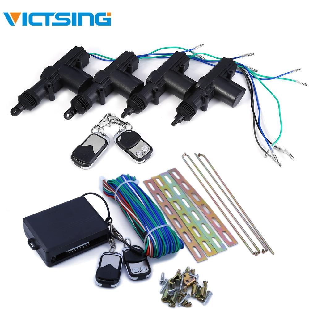 VicTsing 360 degrés voiture Auto télécommande centrale serrure alarme Kit de sécurité 4 support de porte verrouillage actionneurs puissance sans clé système d'entrée