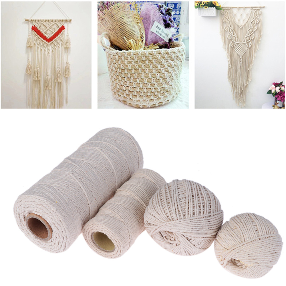 Home Decor 100/% Natural Beige Cotton Sewing Cords Twine String DIY Rope