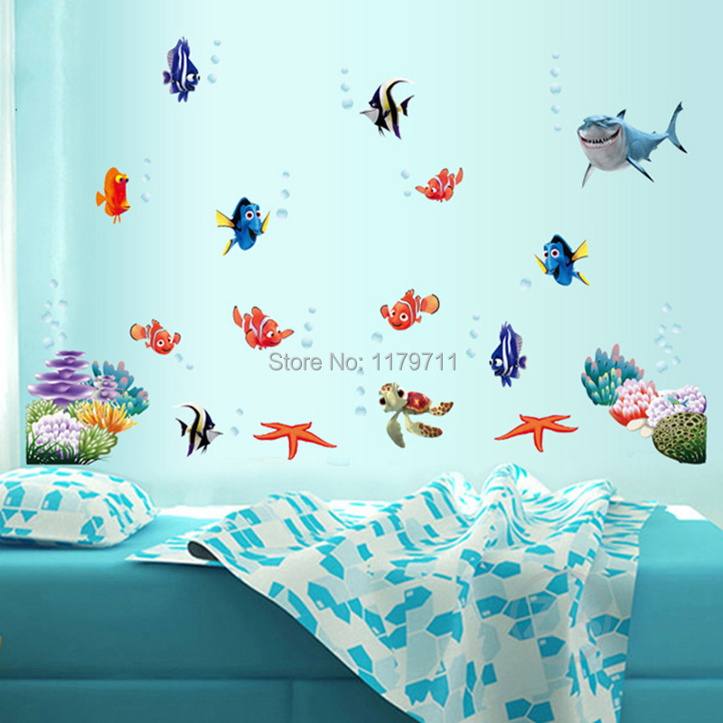 Nemo Fish Cartoon Wall Sticker For Shower Tile Stickers In The Bathroom For  Children Kids Baby On Bath AY617 In Wall Stickers From Home U0026 Garden On ... Part 44