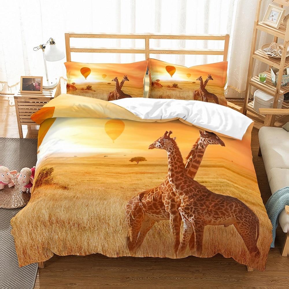 Kids Animal Character Shaped Reversible Single Duvet Quilt Cover Set Pillowcase