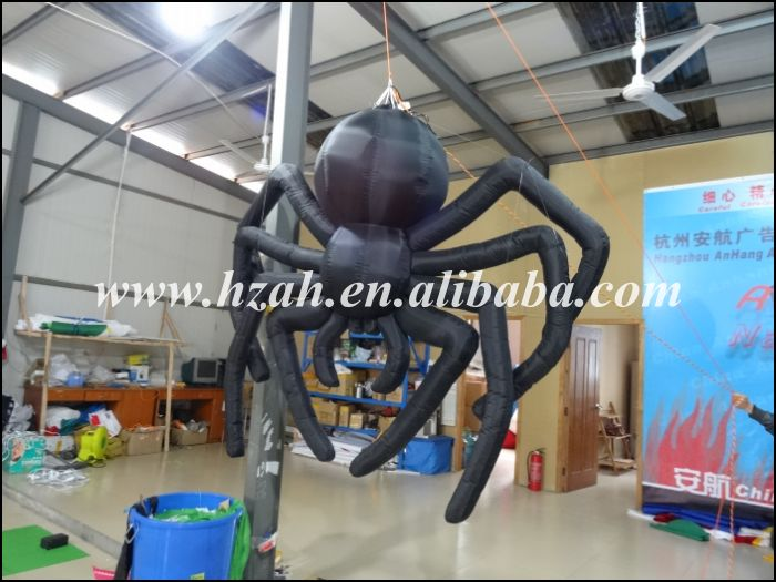 Halloween Decoration Black Inflatable Spider halloween party supplies paper spider lantern decoration