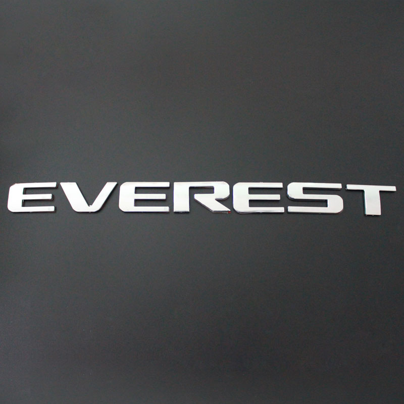 HIGH QUALITY EVEREST LOGO STIKCER 3D STICKER CHROME LOGO FOR FORD EVEREST 2014 2015 2016 2017 2018