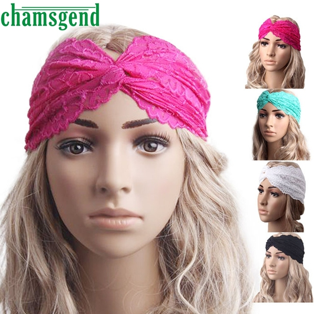 2017 Gym fitness Lace Headbands For Women Winter Sports Headband Head Wrap  Wide Yoga Hairband Head 13cb275d9