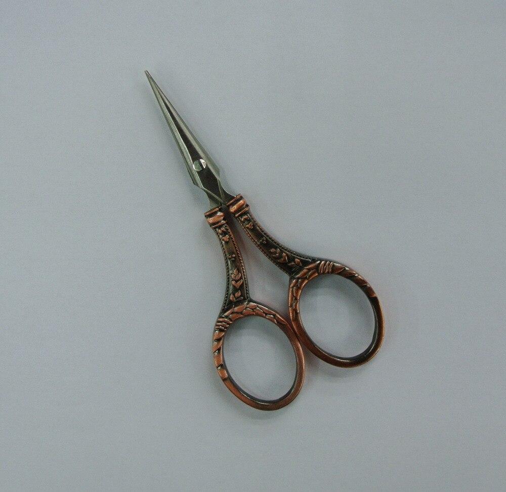 antique scissors european style golden plated JD-102 stainless steel Zakka scissors mini sewing cutter