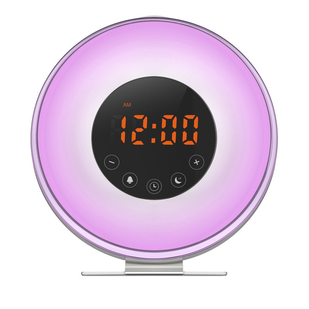 Simulated Sunrise Sunset Wake Up Digital Led Alarm Clock