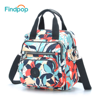 2018 Findpop New Floral Printing Handbags Women Fashion Casual Vintage Handbags Waterproof Canvas Small Crossbody Bags