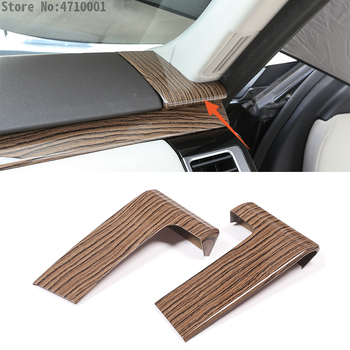 2pcs Sands Wood Grain Car Dashboard Decoration Cover Trim For Land Rover Discovery 5 LR5 L462 2017 2018 Auto Accessories