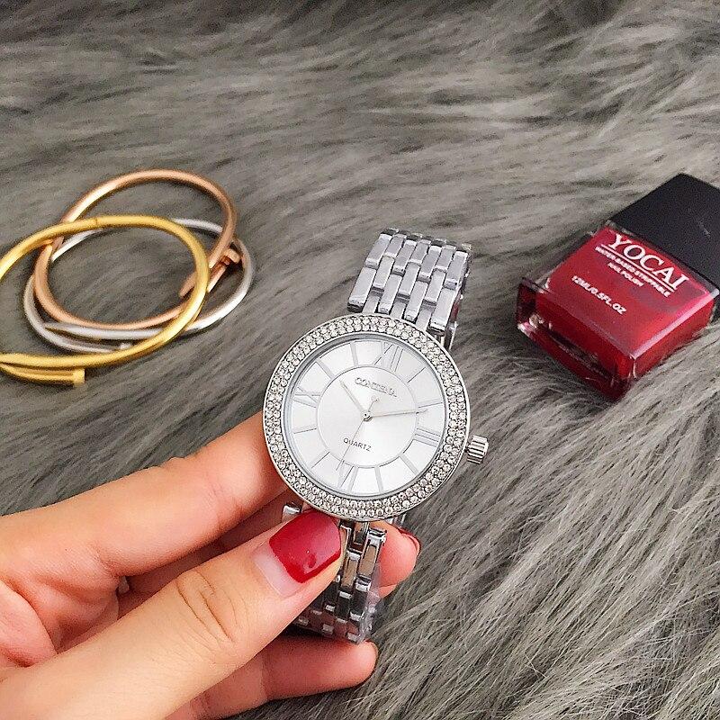 CONTENA Watch Women Silver Watches Women's Watches Luxury Rhinestone Ladies Watch montre femme relogio feminino reloj mujer все цены