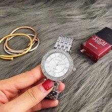 CONTENA Mujeres Del Reloj Relojes de Moda Relojes de Lujo de Las Mujeres de Plata Rhinestone Señoras Reloj saat relogio feminino reloj mujer