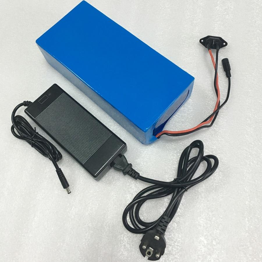 48 volt li-ion battery pack batteria elettrica della bici con 54.6 V 2A Caricatore e 25A BMS per 48 V 15Ah batteria al litio